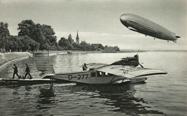 A Graf Zeppelin and a flying boat, Konstanz, D- 277