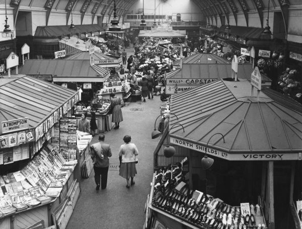 A general view of the Grainger Arcade Market, Newcastle-upon- Tyne, Northumberland, England