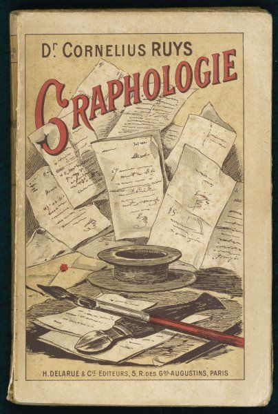 'GRAPHOLOGIE' French manual by Dr Cornelius Ruys on the study of handwriting