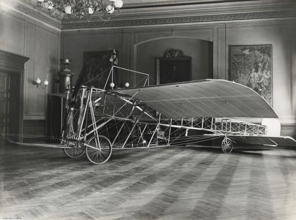 The first Swedish aircraft.constructed 1910 by Oscar Ask and Hjalmar Nyrop. The airplane was nicknamed The Grasshopper. Date: 1910