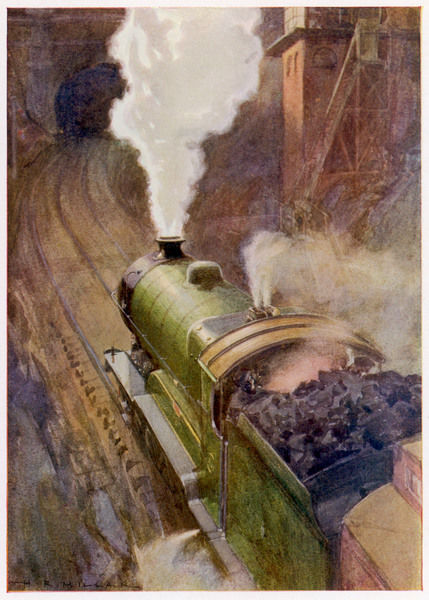 The Great Central Express runs non-stop from London to Sheffield, drawn by a locomotive of the 'Sir Sam Fay' class