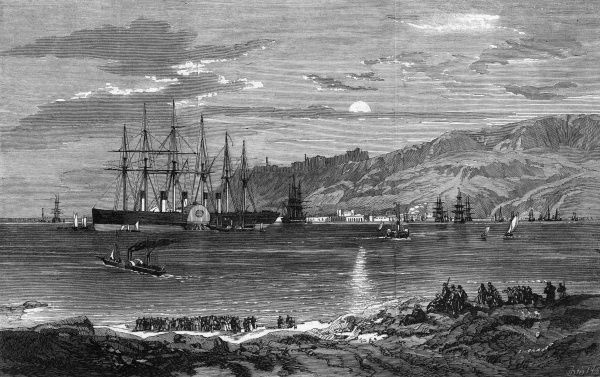 The Great Eastern steamship at Portland, 1859. Date: 1859