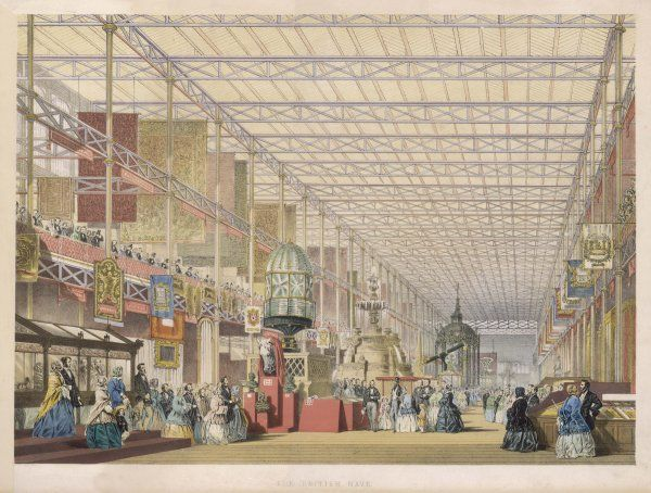 The Great Exhibition of All Nations - The British Nave Date: 1851