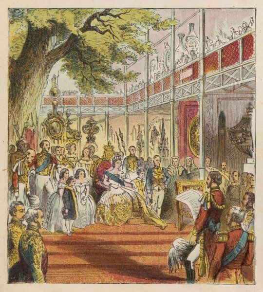 Queen Victoria opens the Great Exhibition in the Crystal Palace in Hyde Park