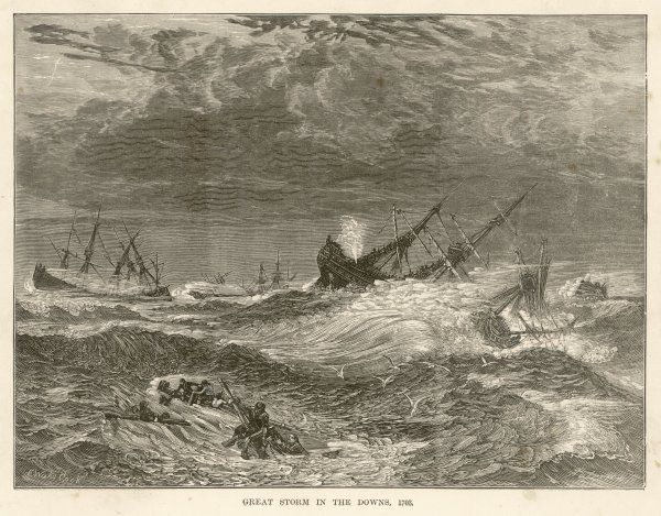 The Great Storm of 1703 which ravaged the south of England and caused great loss of life, particularly at sea
