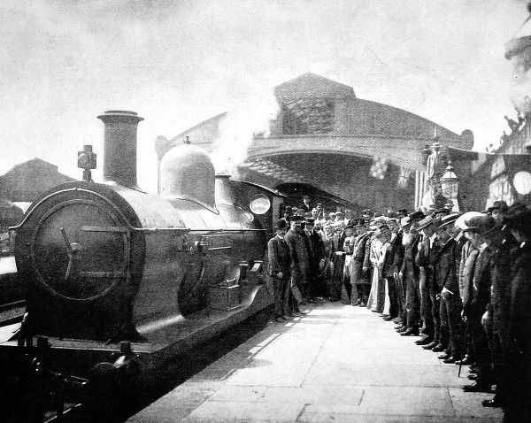 The inaugural trip of the Great Western Railway service from Penzance