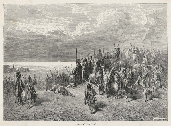 Xenophon, retreating into Persia, reaches the Black Sea