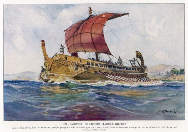 A light fighting ship from classical Greece