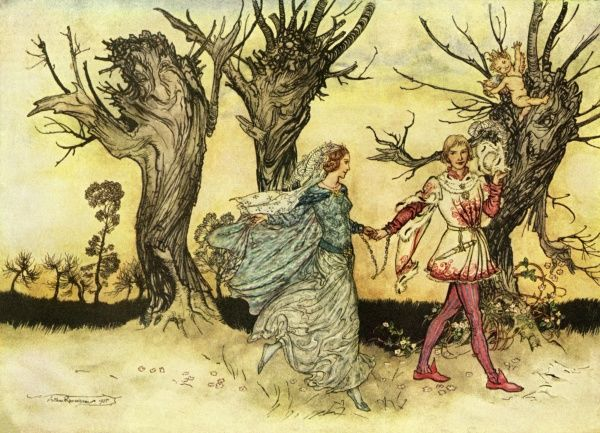 The Green Door by Arthur Rackham. A story by AA Milne published in The Delineator magazine in December 1925 Date: 1925