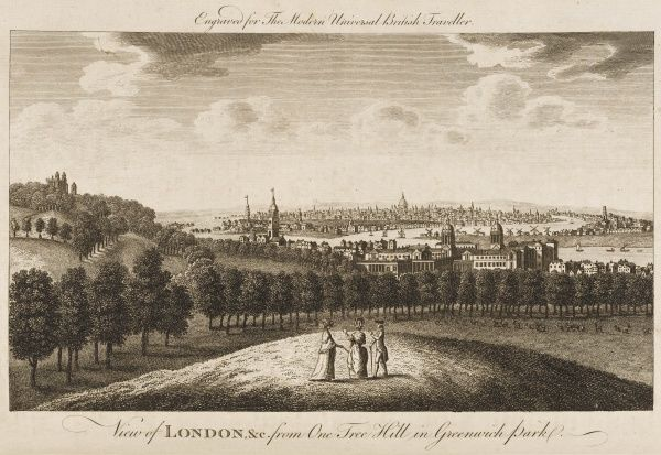 The view of London from Greenwich Park