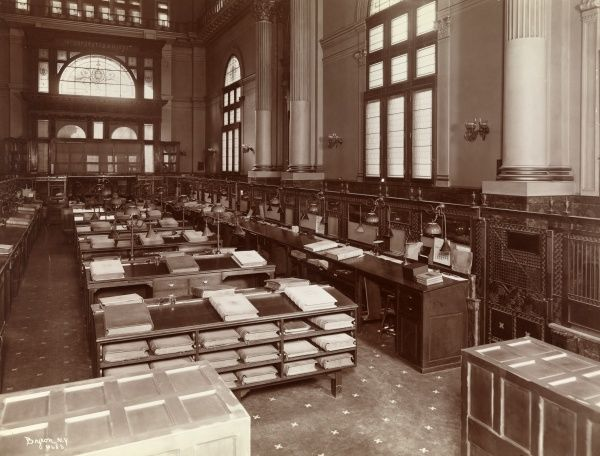 Greenwich Savings, Sixth Ave. & 16th St. (Hall Safe Co.). Main banking room of Greenwich Savings. Sixth Avenue and 16th Street