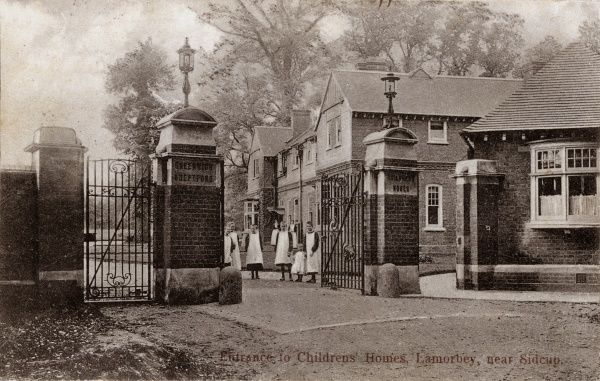 Entrance to The Hollies, the Greenwich & Deptford Union cottage homes site at Lamorbey, near Sidcup, Kent