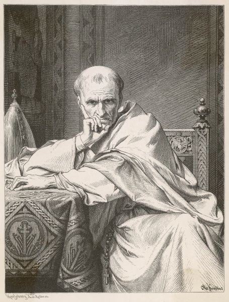 POPE GREGORIUS VII (Hildebrand) Despite being a saint, he quarrelled with emperor Heinrich IV, humiliating him at Canossa