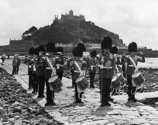 The 2nd Battalion of the Grenadier Guards visit St Michaels Mount, West Cornwall