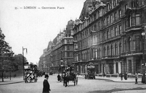 Grosvenor Place, London Date: circa 1907