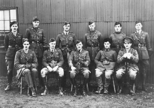 Group of 56 Squadron Royal Flying Corps officers
