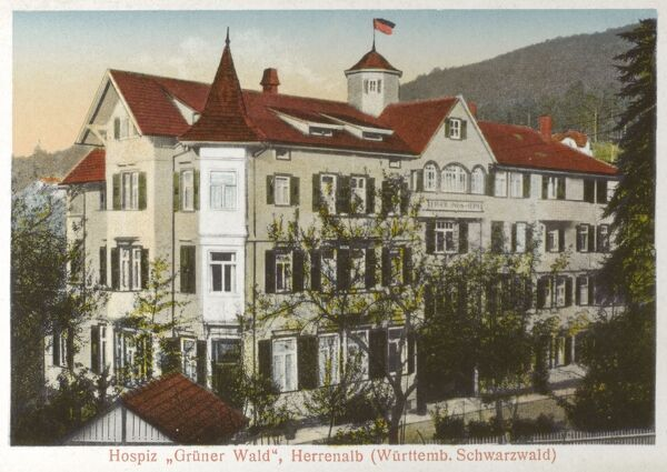 The Green Forest Hospice / Christian Rest Home (Hospiz Gruner Wald) at Bad Herrenalb - Black Forest, Germany Date: circa 1920s