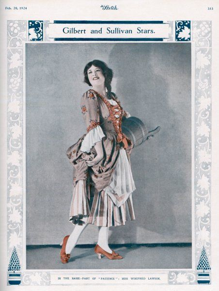 Winifred Lawson as Patience, the country girl who appeals to the aesthetes