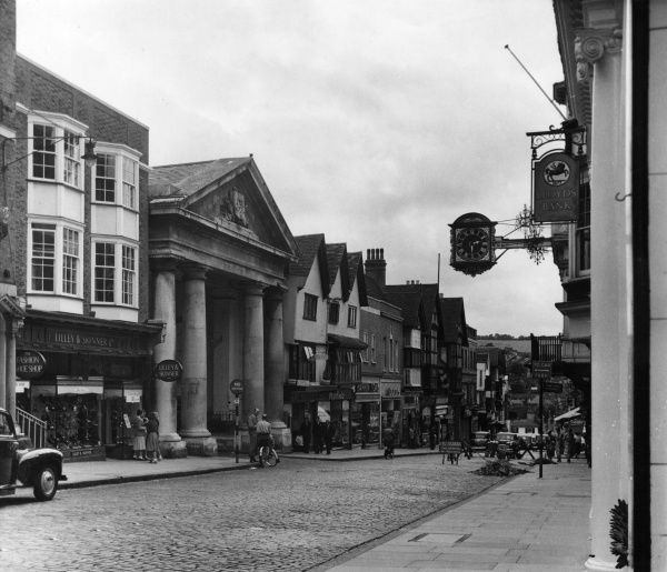 Guildford, Surrey: the High Street Date: 1950s