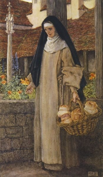 Guinevere at the end of her life becomes a nun at Amesbury