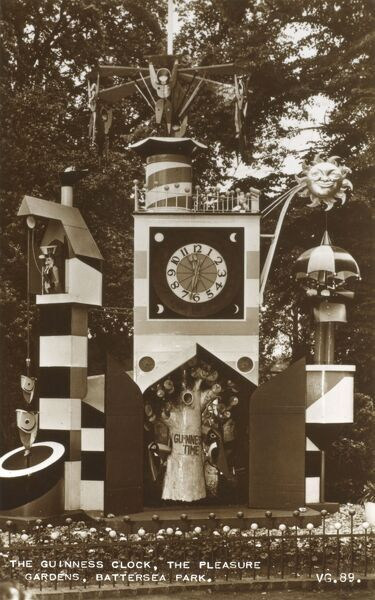 Guinness Clock - Pleasure Gardens - Battersea Park Date: circa 1950s