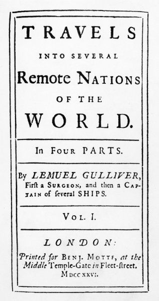 Title page from the first edition in 1726