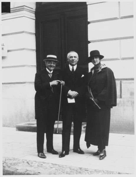 French investigator of psychical phenomena, author, involved in many high- profile investigations. Photographed at the Warsaw congress 1923, with Ossowiecki and his wife