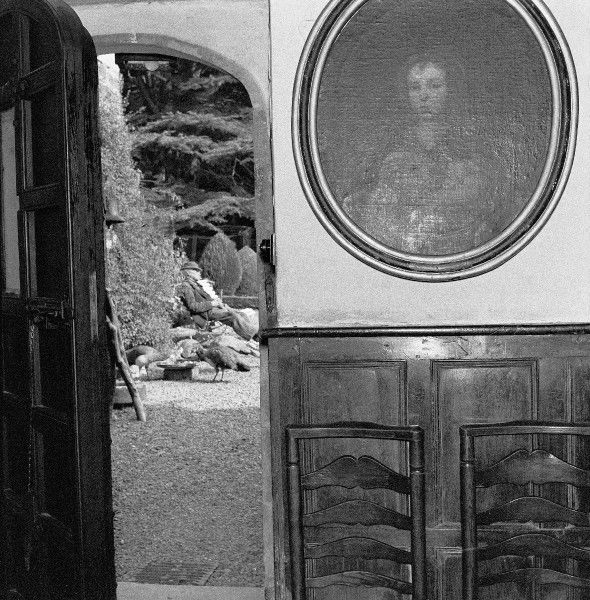 Gwydir Castle & Owner, North Wales. Photograph by Norman Synge Waller Budd