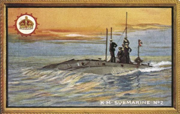 Royal Navy submarine number 2 Date: early 20th century