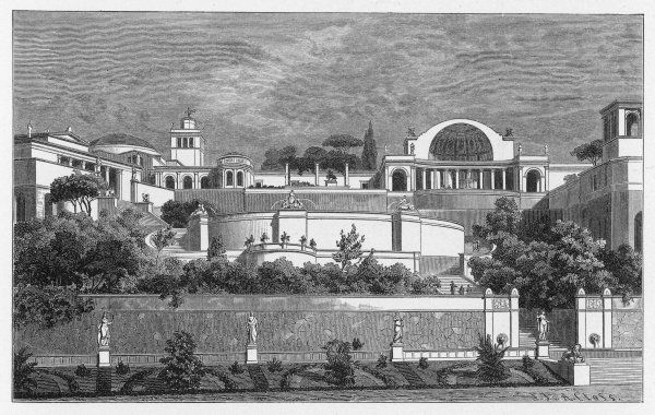 Reconstruction of the Villa Tiburtina, home of the emperor Hadrian