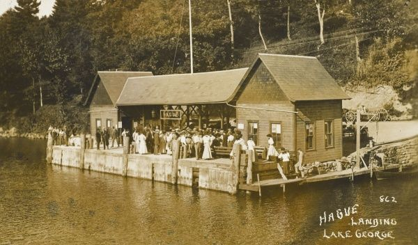 Hague Landing Steamboat quay, Lake George, New York State, America