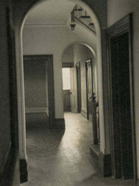 Undated photograph of the hall at Borley Rectory, into which many things were thrown from above. HPG/1/3/4 (iv)