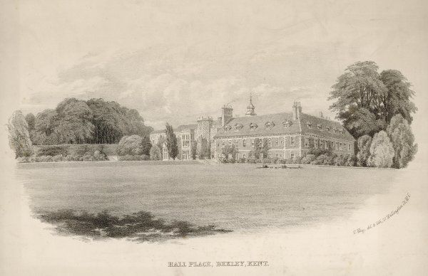 Hall Place, Bexley, Kent, England, was built in the reign of Henry VIII for the Lord Mayor of London, Sir John Champneis