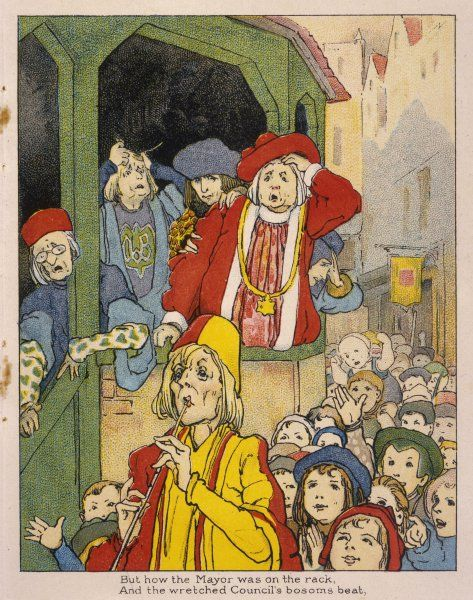 The Mayor of Hamelin and his Council members are distressed when the town's children follow the Piper away