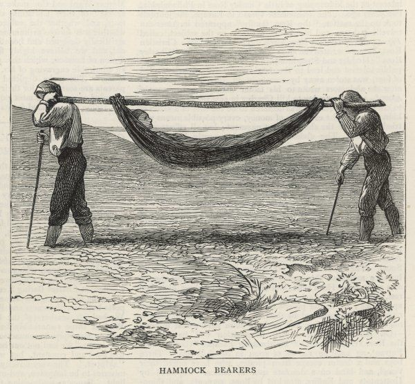 Hammock bearers on the Atlantic island of Madeira