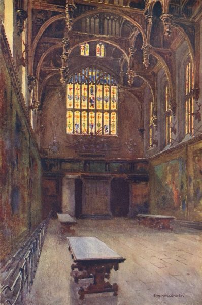 Hampton Court: the Great Hall Date: circa 1908