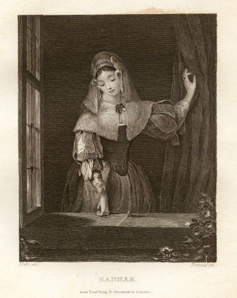 Hannah - the woman in the window. Date: 1833