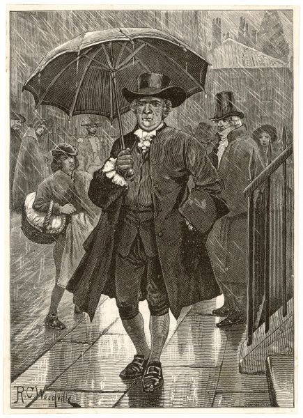 Jonas Hanway pioneers the first umbrella in London