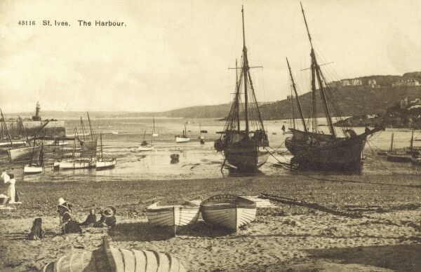 The harbour - St Ives, Cornwall Date: circa 1910s