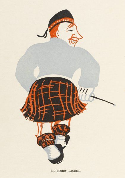(Sir) HARRY LAUDER Scottish music-hall entertainer - Rear view!