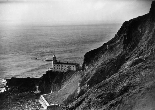 Hartland Point Lighthouse, Hartland Point, North Devon, England, overlooking the Bristol Channel, was built in 1874 by James Douglass. Date: built 1874