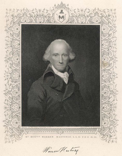 WARREN HASTINGS Governor General of India