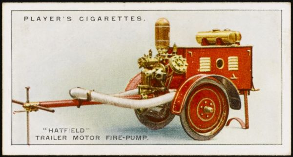 Merryweathers' 'Hatfield' trailer motor fire-pump, able to negotiate narrow lanes and therefore 'suitable for country districts&#39