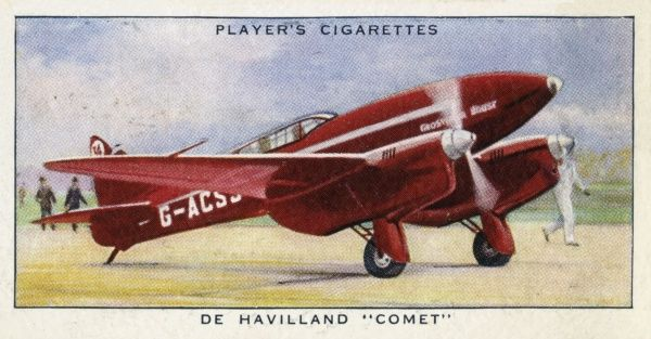 "The De Havilland ""Comet"" aeroplane, a racing monoplane seating two, with duplicated controls. Date: circa 1936"