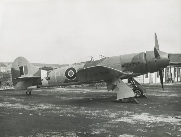 Hawker Tempest V powered by a Sabre IIB NV768, with ducted spinner aircraft propeller Date