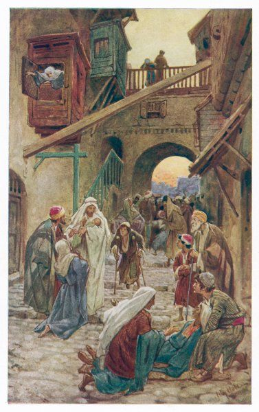 Jesus heals at Capernaum, on the sea of Galilee