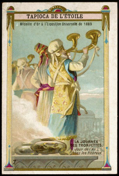 ANCIENT HEBREWS New Year's day is the Feast of the Trumpets, which herald the start of another year with the customary sacrifices of slaughtered animals