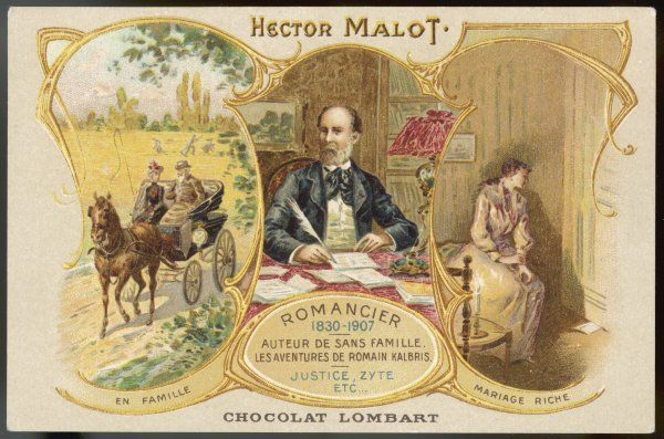 HECTOR MALOT with scenes from two of his books