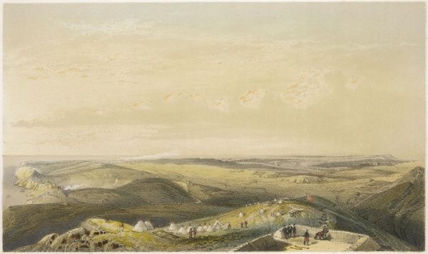 A general view of the heights above Balaklava - the scene of the important battles and the notorious Charge of the Light Brigade