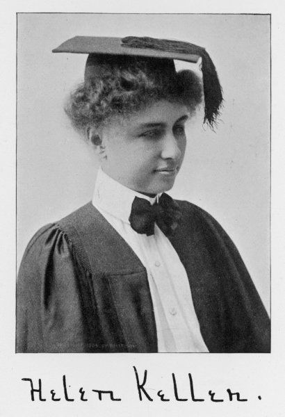 HELEN ADAMS KELLER (1880-1968), American author and lecturer who was left blind, deaf and mute at the age of 19 months